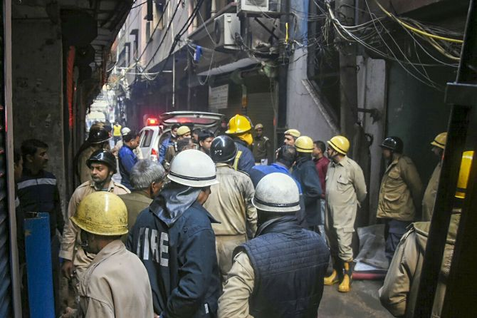 Delhi fire: Building owner booked, absconding