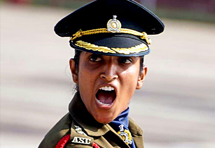 The 1st woman to lead an all-male marching contingent on R-Day