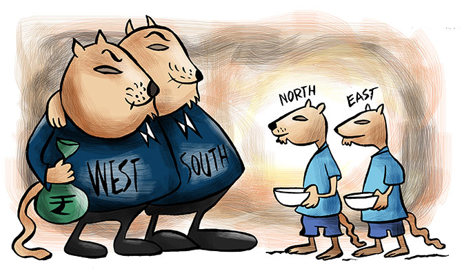 India s West-South vs North-East mismatch - Rediff.com Business 54bf4b19b