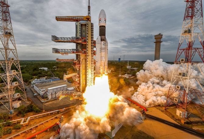ISRO successfully launches Chandrayaan-2