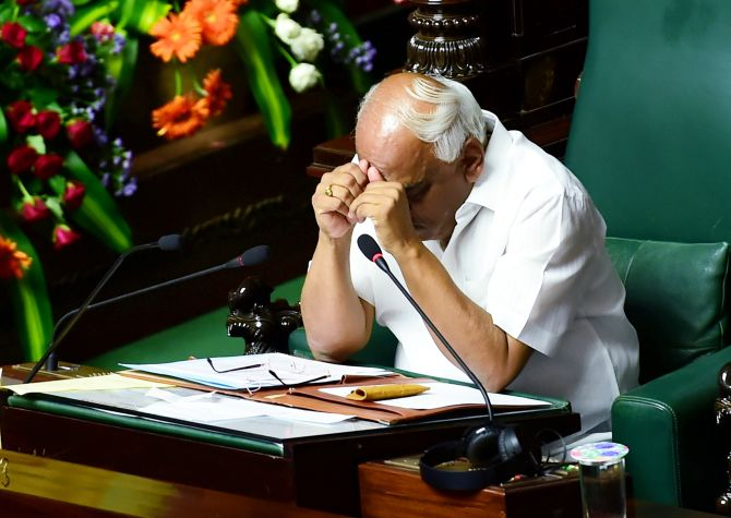 K'taka trust vote: Ruling MLAs absent, Speaker furious