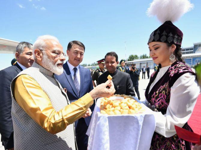 PM Modi arrived in Bishkek for SCO summit