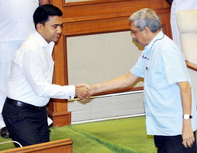 Pramod Sawant, a Parrikar loyalist, rises to top
