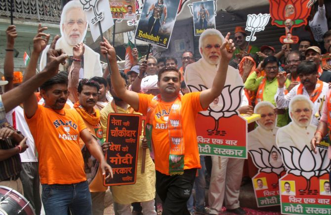 'BJP sweep is because of Congress's weakness'