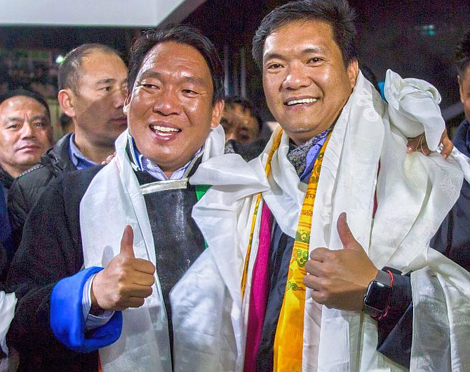 BJP wins 41 seats in 60-member Arunachal Pradesh