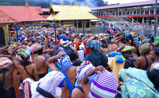 Sabarimala temple opens, 10 women sent back by police