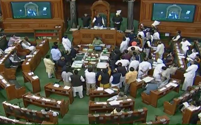 Congress protests in Lok Sabha over electoral bonds