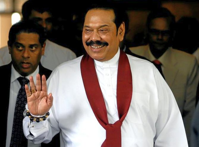 Mahinda Rajapaksa becomes Lanka's new PM