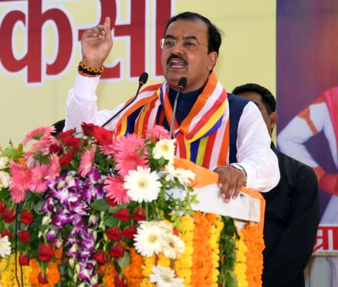Voting for BJP means dropping bomb on Pak: UP dy CM