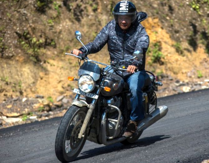 Arunachal CM goes on a bike ride to promote tourism