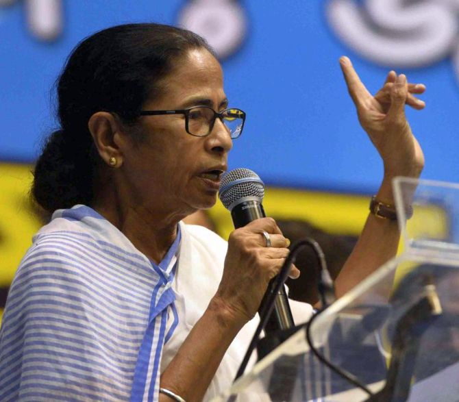 Shame on BJP for creating panic over NRC: Mamata