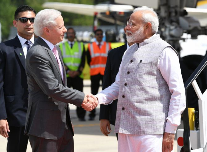 'Howdy Houston', PM tweets on landing in US