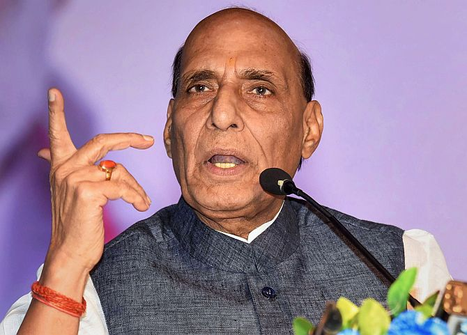 Don't repeat mistakes of '65, '71: Rajnath warns Pak