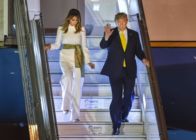 Trump arrives in Delhi; to meet Prez, PM today