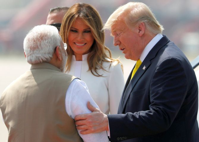 Bear hugs, charkha moment & Taj Mahal: Day 1 for Trump