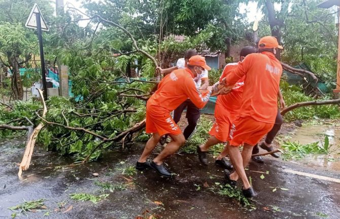 Restoration work begins post Cyclone Nisarga