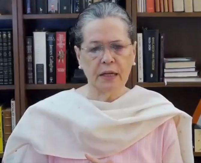 Whole country heard migrants' cries except govt: Sonia