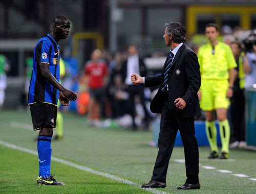 Jose Mourinho and Mario Balotelli