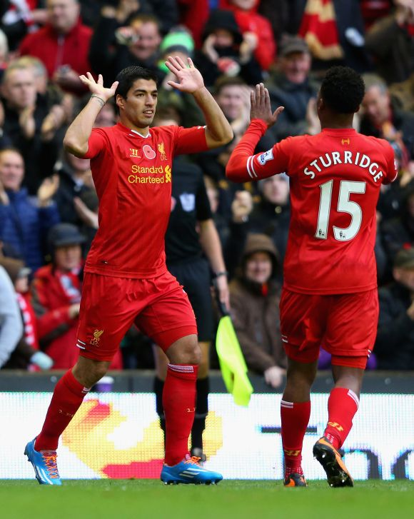 Luis Suarez and Daniel Sturridge