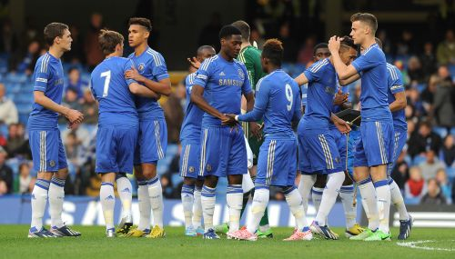 The Chelsea players after the match