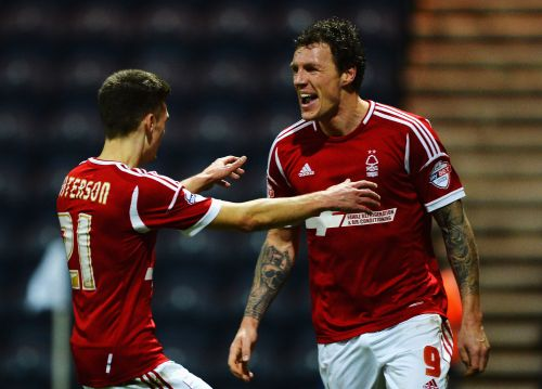 Darius Henderson celebrates after scoring