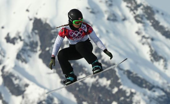 Helene Olafsen of Norway during the Ladies' Snowboard Cross Seeding