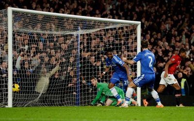 EPL: Eto'o hat-trick all but ends United title hopes