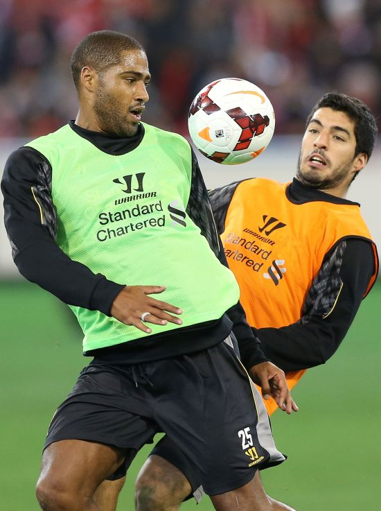 Glen Johnson and Luis Suarez