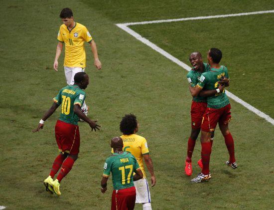 Allan Nyom celebrates after scoring