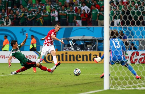 Ivan Perisic scores for Croatia