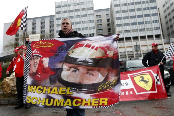 Schumacher is still classed as critically ill