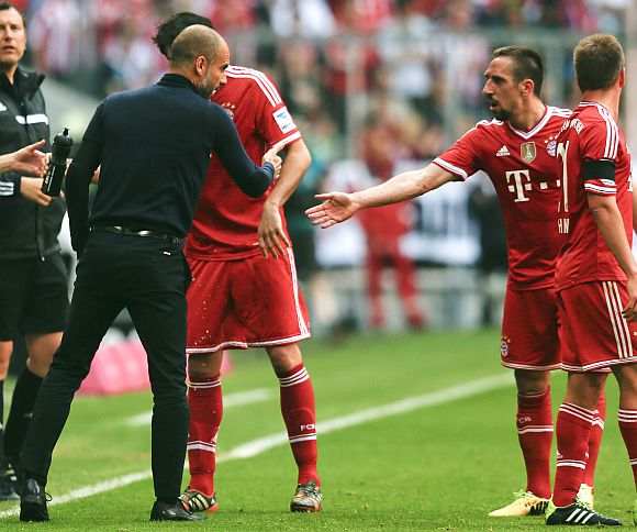 Franck Ribery and Pep Guardiola