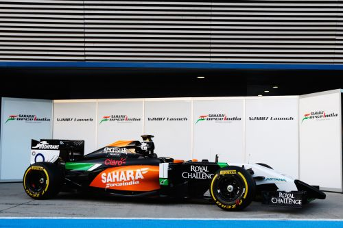 Force India launch the new VJM07 during day one of Formula One Winter Testing at the Circuito de Jerez