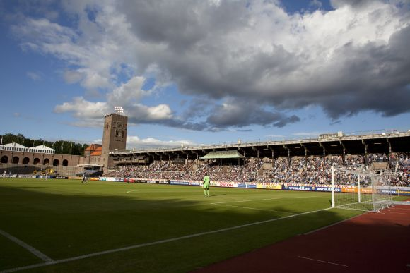 General view of the Stockholms Olympiastadion, home of Djurgarden IF