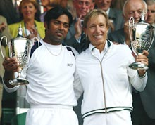 Leander Paes with Martina Navratilova