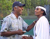 Vijay Amitraj with his son Prakash Amritraj