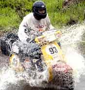 A rider negotiates the slush