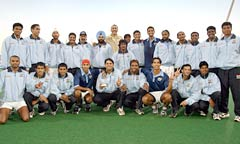 The Indian hockey team at Sydney