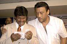 Dhanraj Pillay and Jackie Shroff