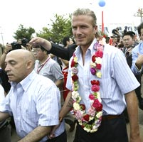 Beckham in China