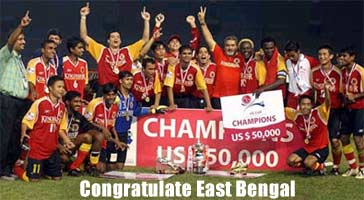 Congratulate East Bengal