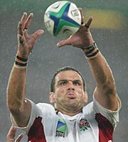 Intense: England captain Martin Johnson