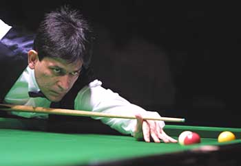 On cue: Geet Sethi aims to get his world championship title back