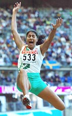 Anju George at the World Athletics Championships
