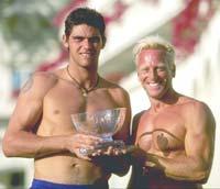Mark Philippoussis (left) with Gavin Hopper