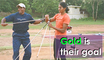 Gold is their goal