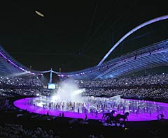 A scene from the opening ceremony