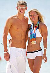 Michael Phelps with Inge de Bruijn