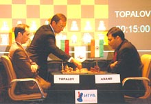 Viswanathan Anand and Vassily Topalov