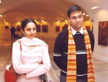 Anand along with wife Aruna